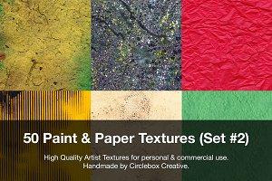50 Paint & Paper Textures (Set #2)