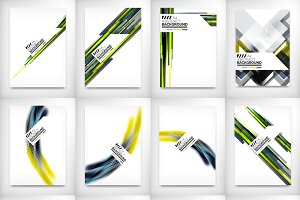 12 flyer designs set 8