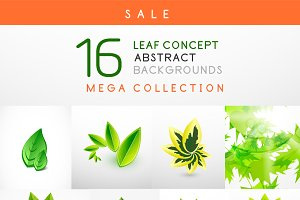 16 leaf backgrounds set 1