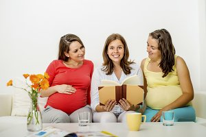 Group of pregnant women.