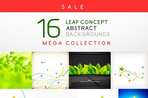 16 leaf backgrounds set 2