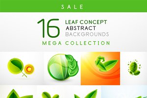 16 leaf backgrounds set 3