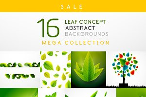 16 leaf backgrounds set 4