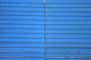 Blue wooden seats