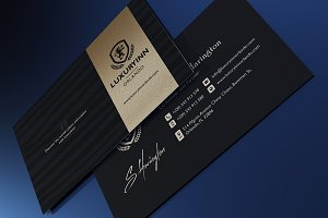 Luxurious Gold / Black Business Card