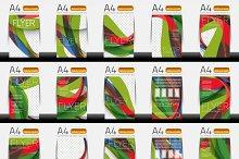 Business brochure templates set 1