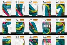Business brochure templates set 2