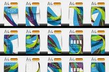 Business brochure templates set 4