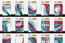 Business brochure templates set 5