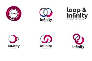 Infinity loop icons set 2