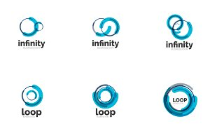 Infinity loop icons set 3