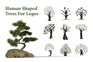 Human Shaped Trees For Logos