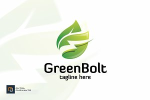 Green Bolt - Logo Template