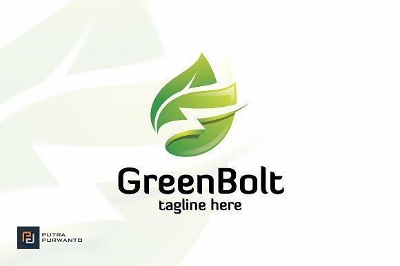 Green Bolt Logo Template