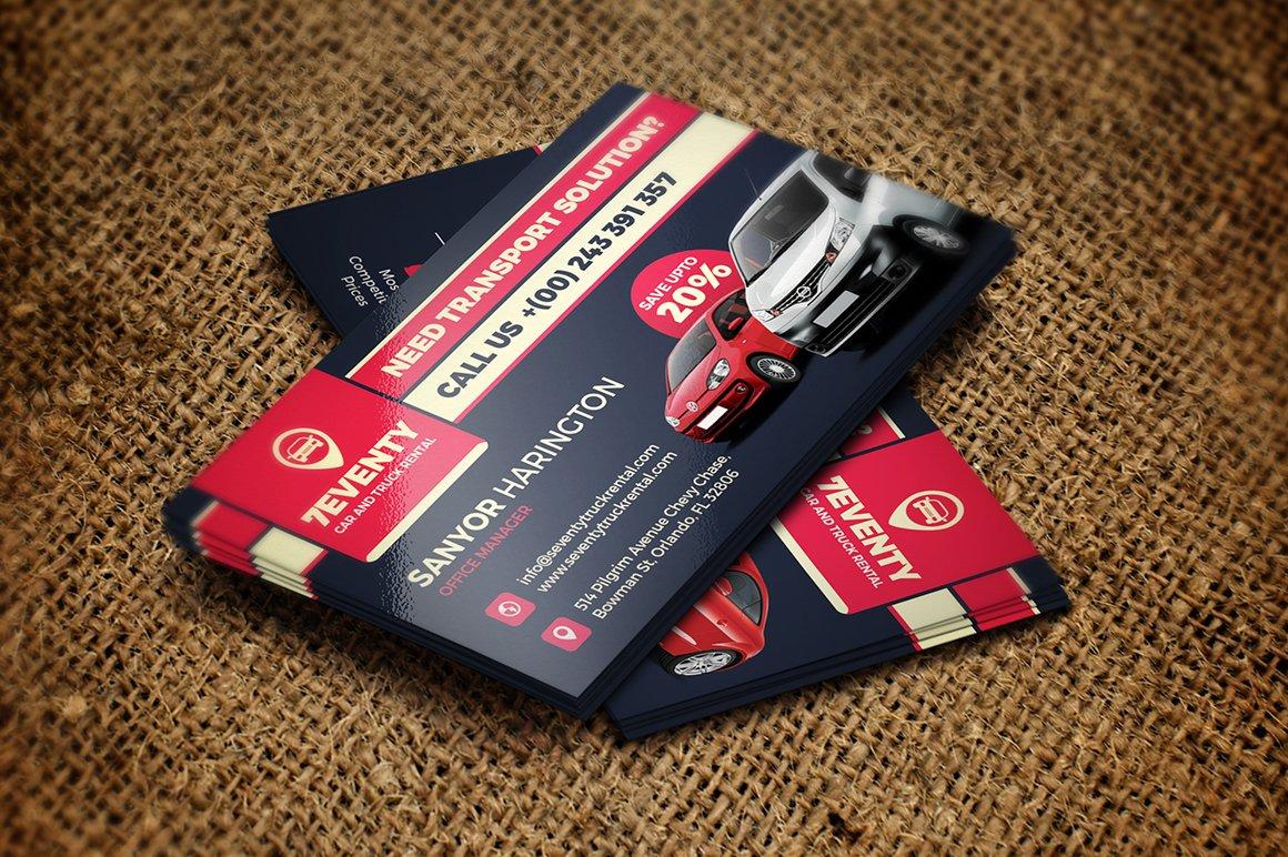 Car Rental Business Card Choice Image - Business Card Template