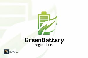 Green Battery - Logo Template