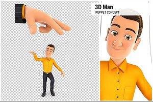 3D Man Puppet Concept