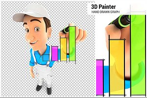 3D Painter Hand Drawn Graph