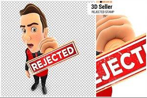 3D Seller Rejected Stamp