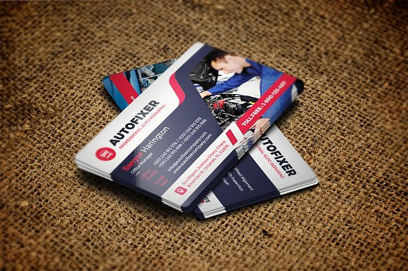 Auto Repair Business Card Template Cards