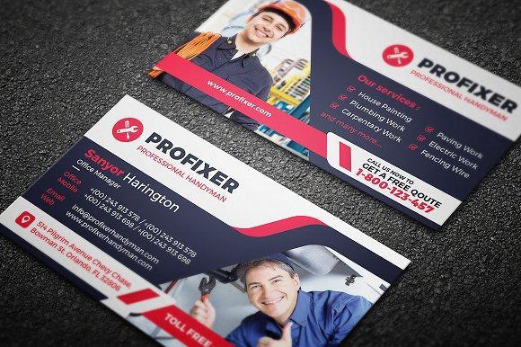 auto repair business card template business card templates creative market - Auto Repair Business Cards