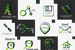 Abstract company logo vector set 3