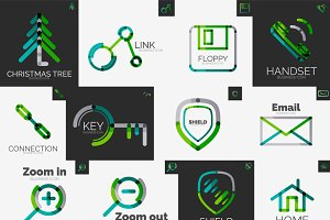 Abstract company logo vector set 8