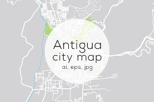 Antigua, Guatemala map
