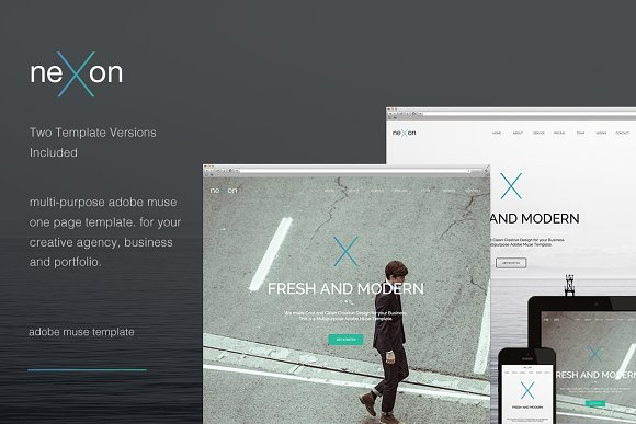 Nexon One Page Muse Template