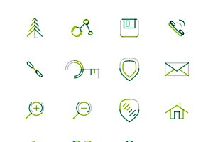 16 thin web icons set 3