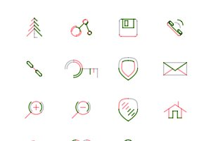 16 thin web icons set 6