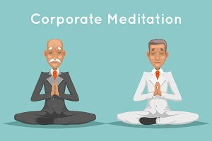Businessman Corporate Yoga