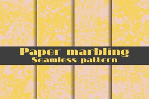 Marbling seamless pattern set