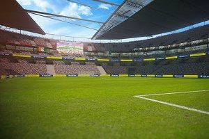 Football stadium game ready 3D-Model