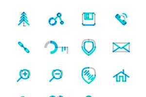 16 thin web icons set 11