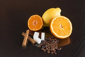 Citrus, cinnamon, sugar and coffee I