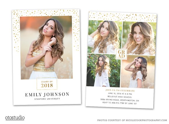 Graduation Card Template 2018 Senior