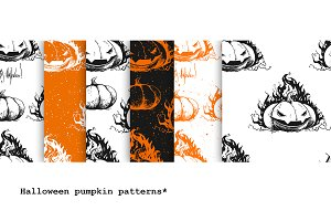 Halloween pumpkin patterns.