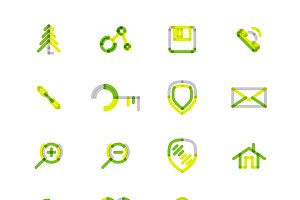 16 thin web icons set 14