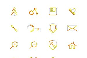 16 thin web icons set 15