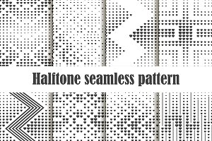 Halftone seamless pattern set