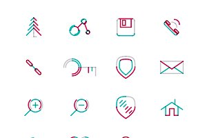 16 thin web icons set 17