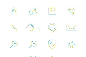 16 thin web icons set 18