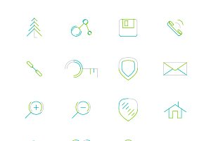16 thin web icons set 20