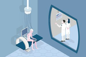 Patient in a Futuristic Hospital