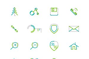 16 thin web icons set 21