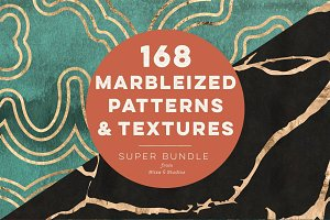 168 Marbleized Gold Patterns Bundle
