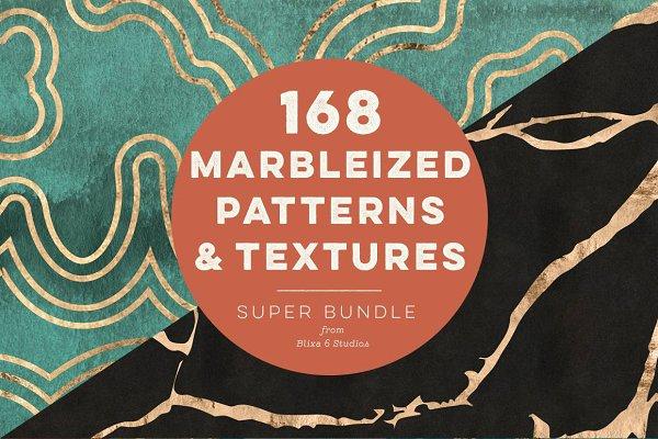 Marbleized Gold Patterns & Textures