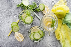 Healthy infused citrus sassi water