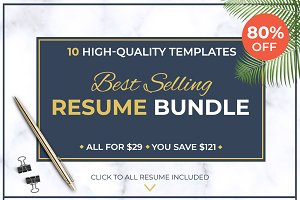 Best Selling RESUME BUNDLE / CV